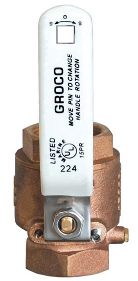 "Groco Ball Valve IBV-500 1/2""BRONZE BODY"
