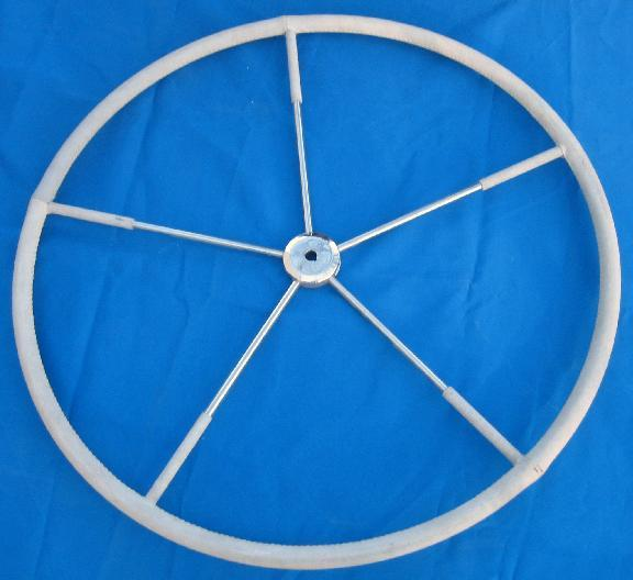 "Edson 36""Destroyer Wheel Gray Leather Tapperd Hub"